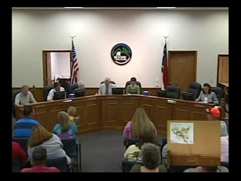 Town Council Meeting 8-20-2015
